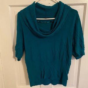 Cowl Neck Short Sleeve Shirt